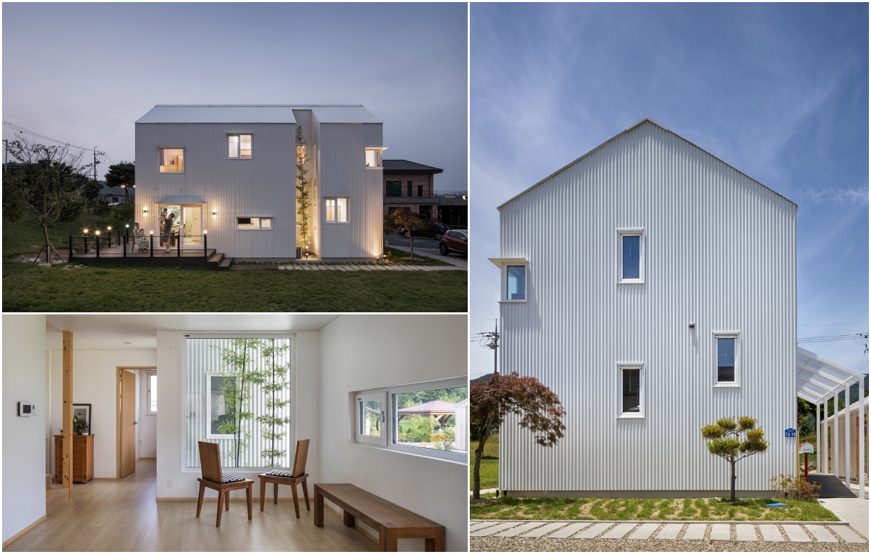 Дім з профнастилу: MOAK Twin House / HUSO + Partners